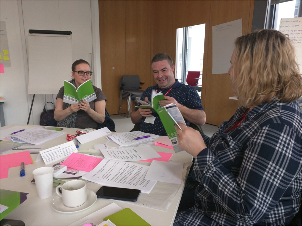 Reps reading the UNISON Code of Good Branch Practice